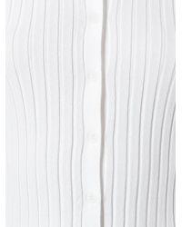 Twin Set | White Ruffled Hem Fitted Cardigan | Lyst