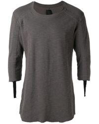 Thom Krom | Gray - Strap Detail T-shirt - Men - Cotton - S for Men | Lyst