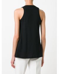 N°21 Black - Pleated Front Tank - Women - Cotton - 38