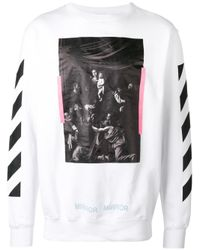 Off-White c/o Virgil Abloh | White Caravaggio Print Sweatshirt for Men | Lyst