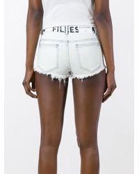 Filles A Papa - Blue Cruz Mini Shorts - Lyst