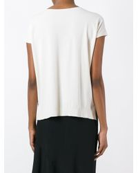 Roberto Collina - White Knitted T-shirt - Lyst