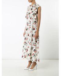 Marni - White Printed Ruffle Dress - Lyst