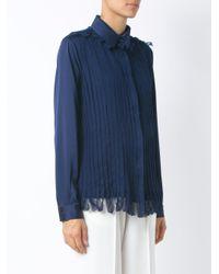 Gloria Coelho - Blue Pleated Shirt - Lyst