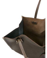 Moreau Brown Checked Trim Tote Bag