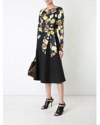 Martin Grant Black - Flared A-line Midi Skirt - Women - Silk/virgin Wool - 38