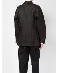 Aganovich Black Jacquard Military Jacket for men