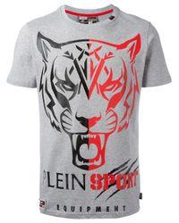 Philipp Plein   Gray Tiger Print T-shirt for Men   Lyst