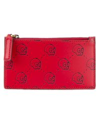 Gucci | Red Ghost Card Case for Men | Lyst