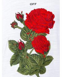 Off-White c/o Virgil Abloh White Rose Over Tee