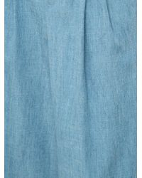 Alice + Olivia Blue Pleated Front Palazzo Pants