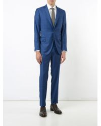 Isaia Blue Checked Suit for men