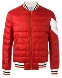 Moncler Gamme Bleu   Red Padded Jacket for Men   Lyst