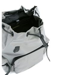 Burberry Gray Buckled Backpack for men