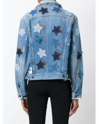 Faith Connexion Blue Star Patches Denim Jacket