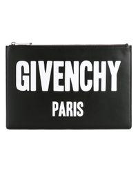 Givenchy Black Logo Print Iconic Clutch