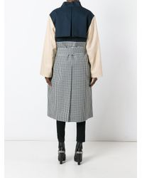 Awake Multicolor Patchwork Oversized Coat
