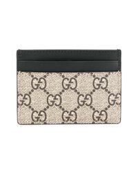 Gucci - Gray Gg Supreme Bee Print Cardholder for Men - Lyst