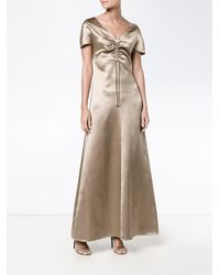 Barbara Casasola   Natural Gathered Chest Gown   Lyst