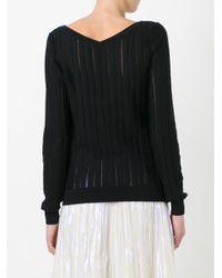 Nina Ricci Black Striped Knit Jumper