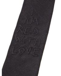 Ann Demeulemeester   Black Fontana Tie for Men   Lyst