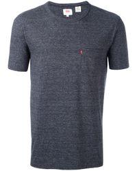 Levi's | Gray Sunset Pocket T-shirt for Men | Lyst