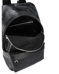 McQ Black Logo Embossed Backpack for men