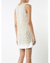 Vera Wang White Embroidered Pearls Dress