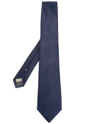 Canali | Blue Polka Dots Tie for Men | Lyst