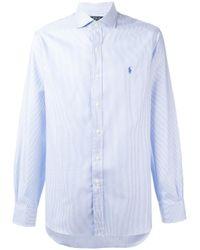 Polo Ralph Lauren   Blue Striped Shirt for Men   Lyst