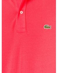 Lacoste | Pink Classic Polo Shirt for Men | Lyst
