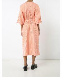 Maison Rabih Kayrouz | Orange Striped Midi Dress | Lyst