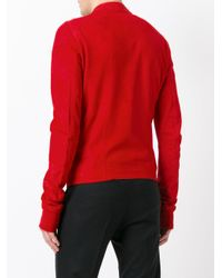 Rick Owens Red Round Collar Jacket for men