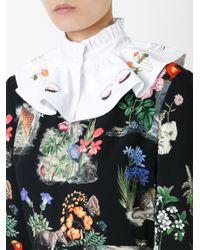 Vivetta - White Eyes Print Collar - Lyst