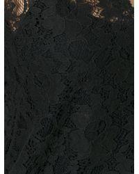 Nude - Black Pizzo Top - Lyst