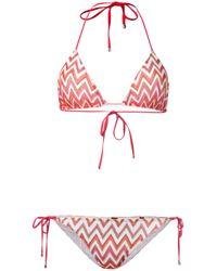 Missoni | Red Chevron Pattern Bikini | Lyst