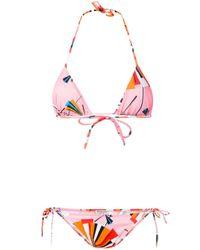 Emilio Pucci - Pink Abstract Print Bikini - Lyst