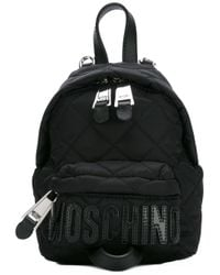 Moschino | Black Mini Quilted Backpack | Lyst