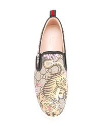 Gucci | Multicolor - Bengal Blooms Print Plimsolls - Women - Leather/rubber - 35.5 | Lyst