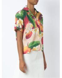 Isolda - Green Short Sleeves Mango (orange) Blouse - Lyst