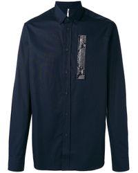 OAMC - Blue Snakeskin Detail Shirt for Men - Lyst