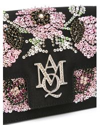 Alexander McQueen Black Insignia Crossbody Bag