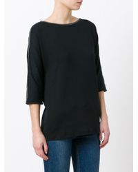 Fabiana Filippi Black Stylised Rib Trim Sweatshirt