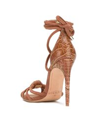 Alexandre Birman Brown Lanna Ankle-wrap Sandals