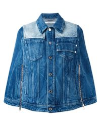 Givenchy Blue Short Denim Cape