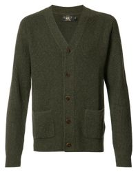 RRL | Green Patch Pockets Buttoned Cardigan for Men | Lyst