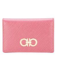 Ferragamo | Pink Double Gancio Cardholder | Lyst