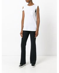 Helmut Lang | White Silk-jersey Top | Lyst