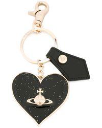Vivienne Westwood | Black Mirror Heart Gadget Charm | Lyst