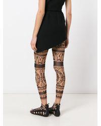 DSquared² Black Printed Leggings